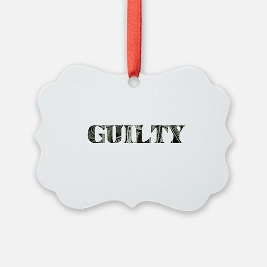 Guilty Black.png Ornament