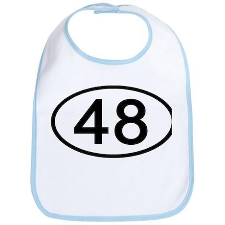 Number 48 Oval Bib