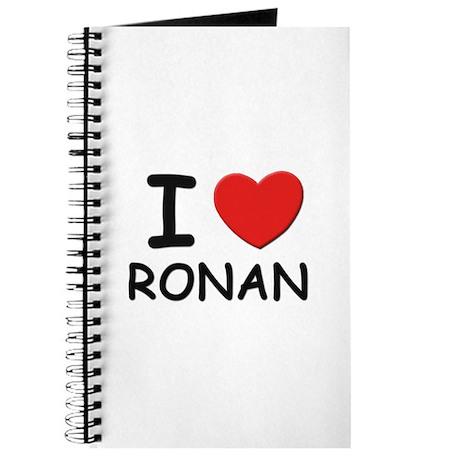 I love Ronan Journal