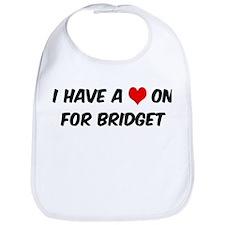 Heart on for Bridget Bib