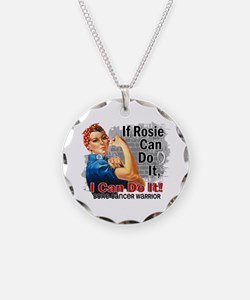 If Rosie Can Do It Bone Cancer Necklace