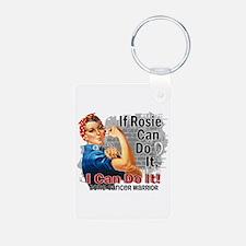 If Rosie Can Do It Bone Cancer Keychains