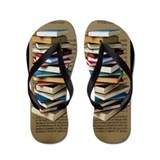 Book lovers Flip Flops