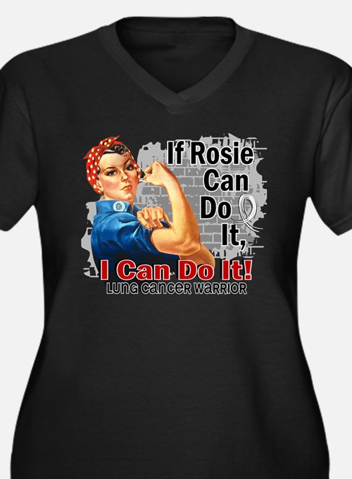 If Rosie Can Do It Lung Cancer Women's Plus Size V