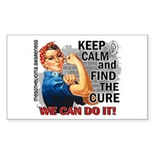 Rosie Keep Calm Mesothelioma Decal