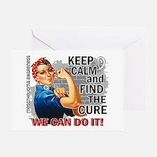 Rosie Keep Calm Mesothelioma Greeting Card