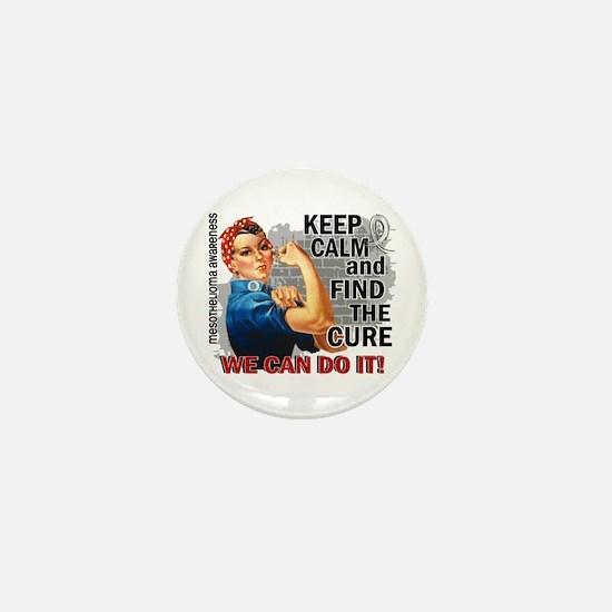 Rosie Keep Calm Mesothelioma Mini Button (10 pack)