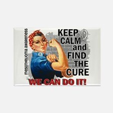 Rosie Keep Calm Mesothelioma Rectangle Magnet (10