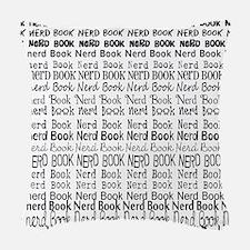 Book Nerd WORDS BLANK Woven Throw Pillow
