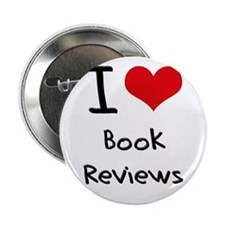"I Love Book Reviews 2.25"" Button"