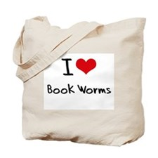 I Love Book Worms Tote Bag
