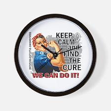 Rosie Keep Calm Retinoblastoma Wall Clock