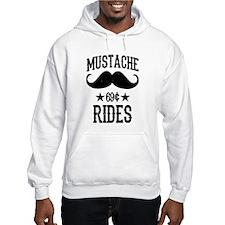 Mustache Rides Black Hoodie