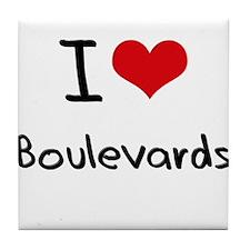 I Love Boulevards Tile Coaster