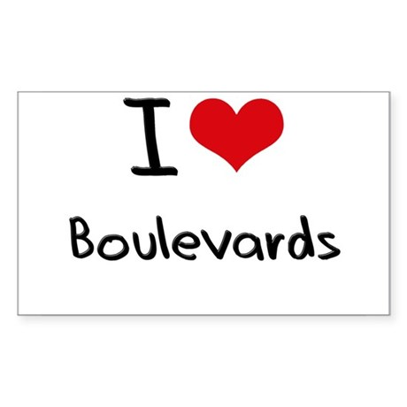 I Love Boulevards Sticker
