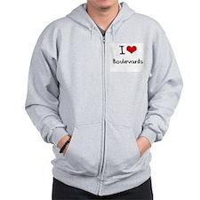 I Love Boulevards Zip Hoodie