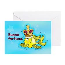 buona fortuna Greeting Card