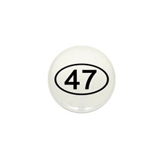 Number 47 Oval Mini Button (10 pack)