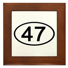 Number 47 Oval Framed Tile