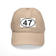 Number 47 Oval Baseball Cap