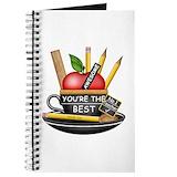Thank you teacher Journals & Spiral Notebooks