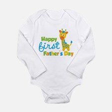 Giraffe 1st Fathers Day Body Suit