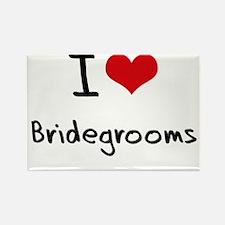 I Love Bridegrooms Rectangle Magnet