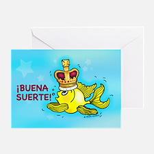 iBuena Suerte, Good luck in Spanish Greeting Card