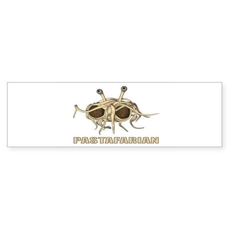 pastafarian rectangle sticker Bumper Sticker