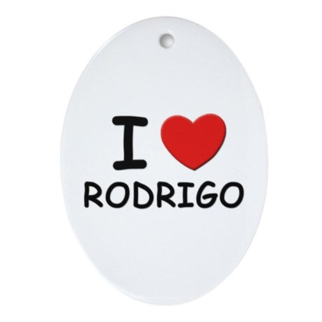 I love Rodrigo Oval Ornament