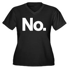No. Women's Plus Size V-Neck Dark T-Shirt