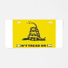 Dont Tread on Me Flag Aluminum License Plate
