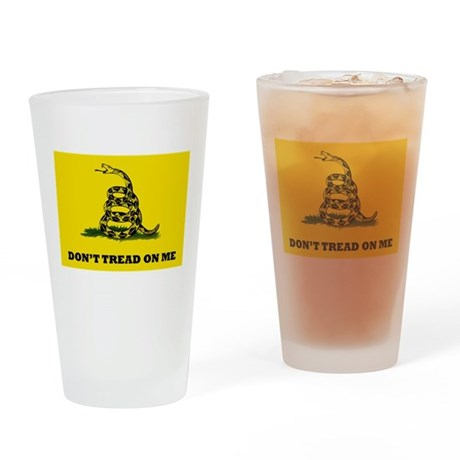 Dont Tread on Me Flag Drinking Glass