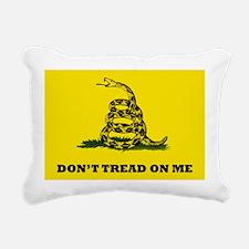 Dont Tread on Me Flag Rectangular Canvas Pillow