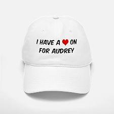 Heart on for Audrey Baseball Baseball Cap