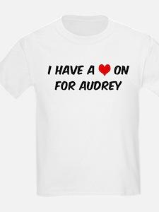 Heart on for Audrey Kids T-Shirt