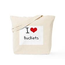 I Love Buckets Tote Bag
