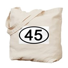 Number 45 Oval Tote Bag