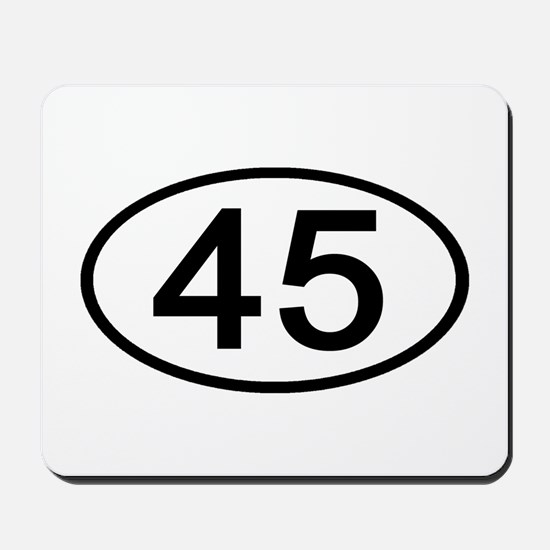 Number 45 Oval Mousepad