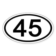 Number 45 Oval Oval Decal