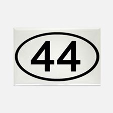 Number 44 Oval Rectangle Magnet