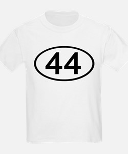 Number 44 Oval Kids T-Shirt
