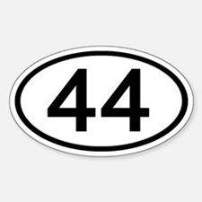 Number 44 Oval Oval Decal