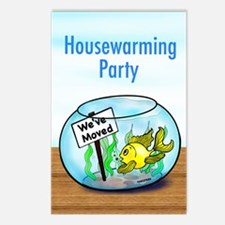 We Moved housewarming party Postcards (Package of