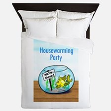 We Moved housewarming party Queen Duvet