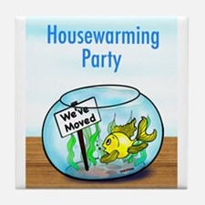 We Moved housewarming party Tile Coaster