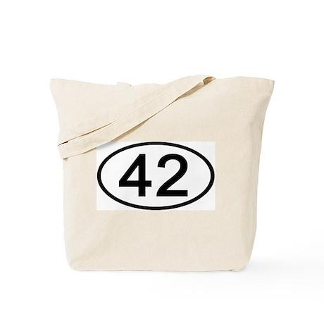 Number 42 Oval Tote Bag