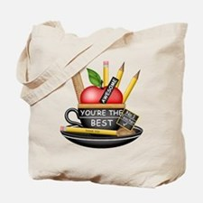 Teachers Apple Teacup Tote Bag