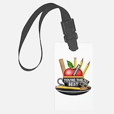 Teachers Apple Teacup Luggage Tag