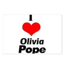 I heart Olivia Pope black Postcards (Package of 8)